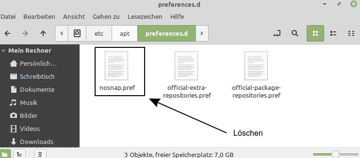 Snap-Pakete unter Linux Mint installieren