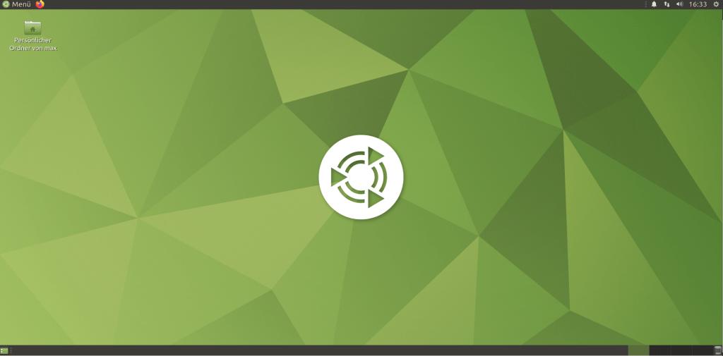 Ubuntu Mate 20.04 - Schreibtischoberfläche