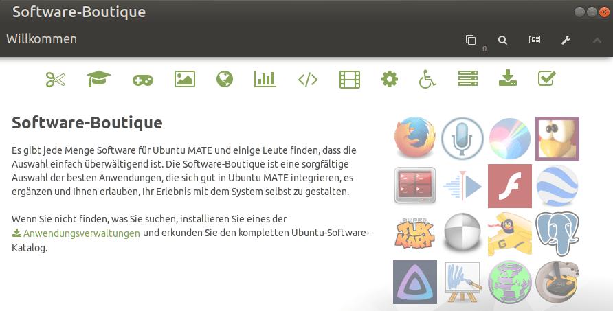 Ubuntu Mate Software Boutique