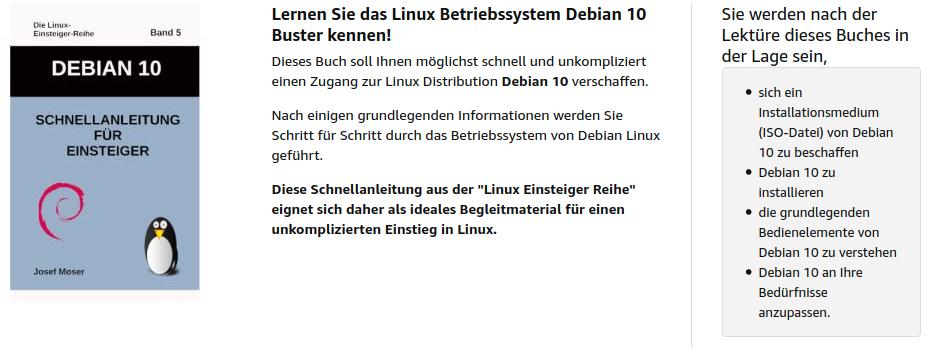 Debian10 für Anfänger