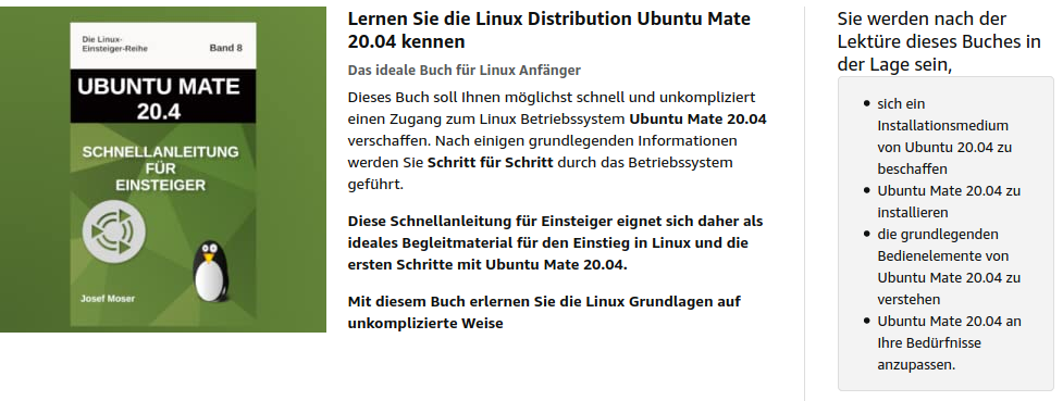 Ubuntu Mate 20.04 - Linux für Anfänger